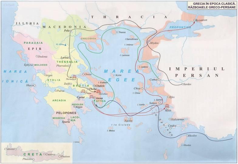 Harta Grecia Antică Istorii Regăsite