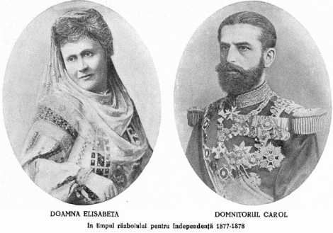 Carol I si sotia sa, Elisabeta, in timpul razboiului pentru independenta