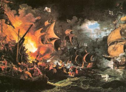 invincibila armada - lupta cu Anglia