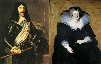 Ludovic XIII si Maria de Medici