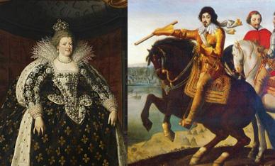 Maria de Medici, Ludovic XIII si cardinalul Richelieu