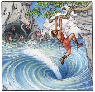 Odiseu intre Scila si Caribda