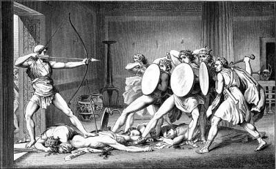 Ulise ucigandu-i pe petitorii Penelopei