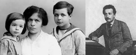 Albert Einstein si copiii sai