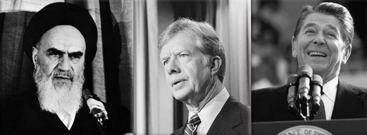 ayatollahul Khomeini, Jimmy Carter, Ronald Reagan