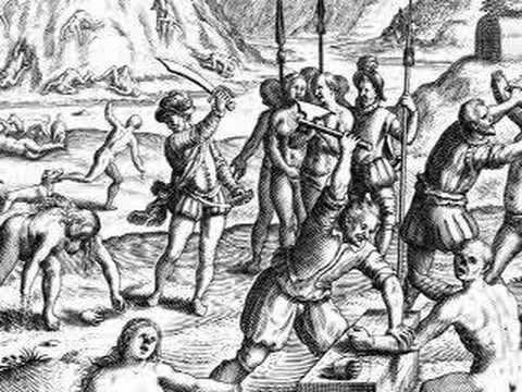 atrocitatile spaniolilor in Lumea Noua