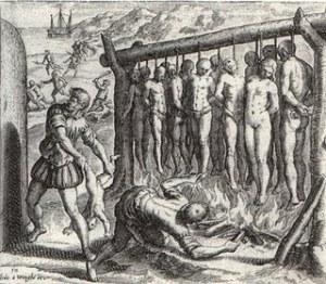 cruzimea colonistilor spanioli in Lumea Noua fata de indieni
