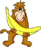 maimuta cu banana