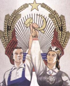Afis sovietic de propaganda - 1945