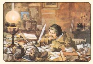Balzac la masa de lucru