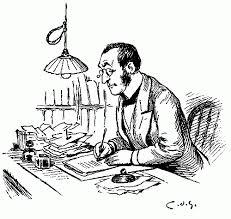 scriitor - desen