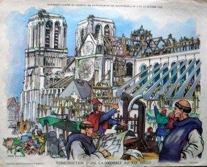 constructia unei catedrale din secolul XIII
