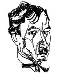 Felix Aderca, desen de Marcel Iancu