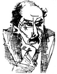 Ion Barbu - desen de Marcel Iancu