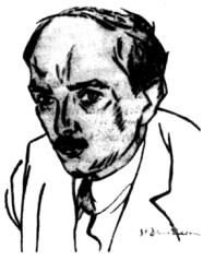 Ion Barbu - desen de Stefan Dimitrescu