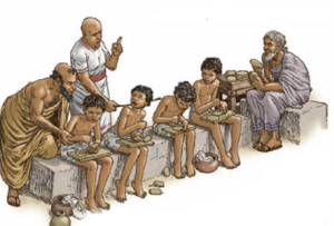 Mesopotamia antica elevi la scoala