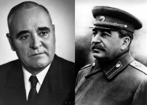 Gh. Gheorghiu-Dej si Stalin