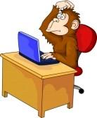 maimuta cu calculator - caricatura