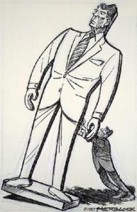 Ronald Reagan caricatura