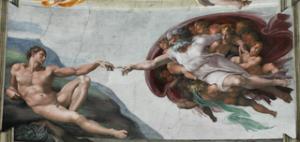 Michelangelo - Crearea lui Adam, capela Sixtina