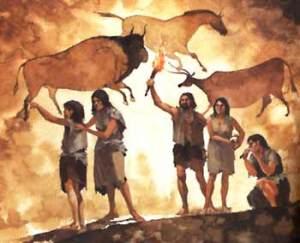 oameni preistorici - picturi rupestre