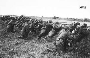 Soldati francezi in 1914 - batalia de la Marna