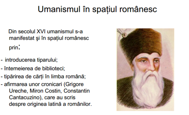 umanismul in spatiul romanesc