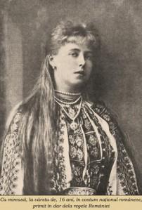 regina Maria a Romaniei la 16 ani, mireasa