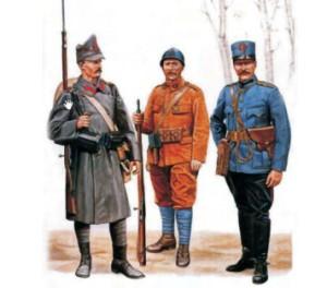 uniforme militare ale armatei romane in primul razboi mondial