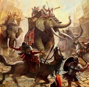 elefanti lupta
