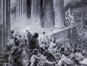 biblioteca Alexandria ardere