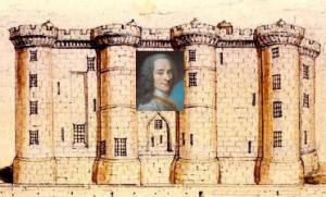 Voltaire la inchisoarea Bastilia
