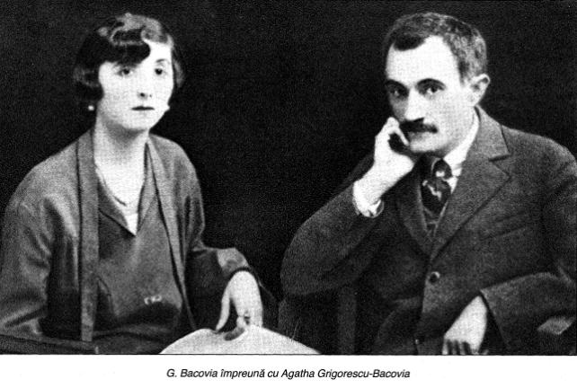 George Bacovia impreuna cu sotia sa, Agatha Grigorescu Bacovia