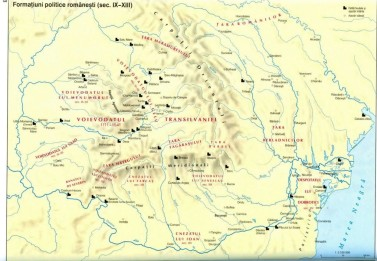 formatiuni politice romanesti sec. IX-XIII