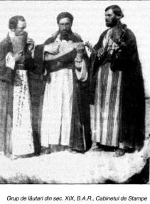 Grup de lautari din secolul XIX B.A.R. Cabinetul de Stampe