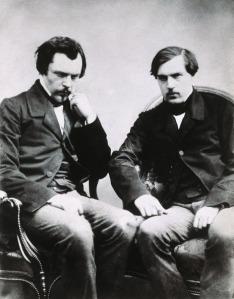 The brothers Edmond de Goncourt