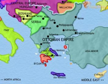 harta europa cadere constantinopol