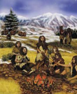 primii oameni foc